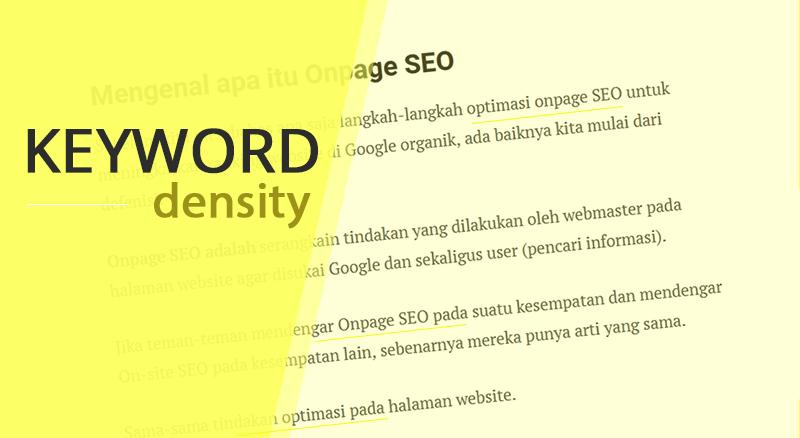 Onpage SEO keyword density