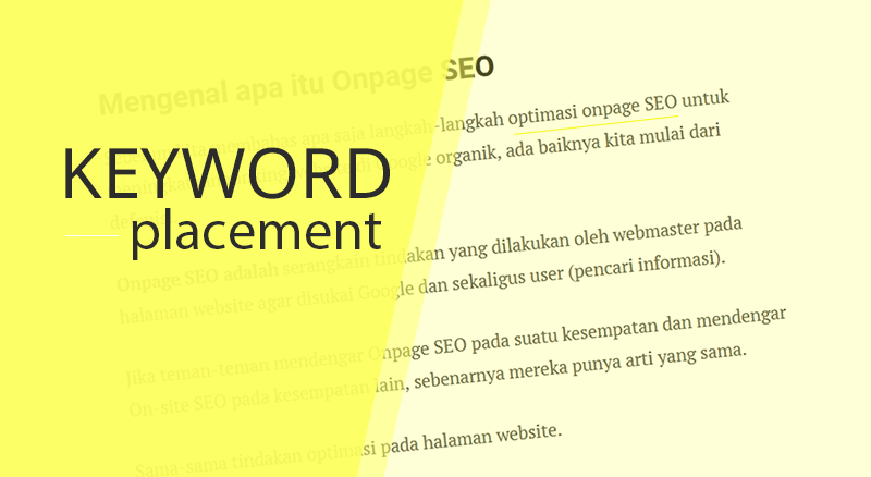 onpage seo keyword placement
