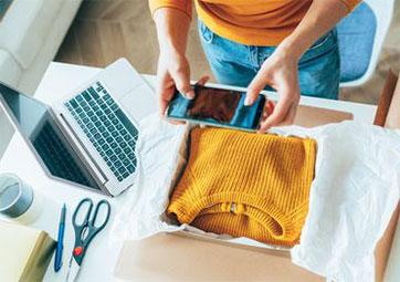 kerja online dari rumah jualan baju