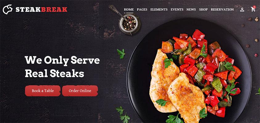 Contoh Template WorPress Kuliner Kekinian