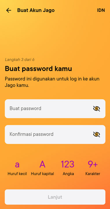 Masukan Passwor Bank Jago