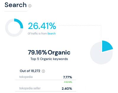Organic Search Tokopedia